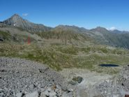 paesaggio intorno al Revelli (segnato con la freccia rossa)