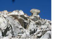 Il fungo di roccia..circa a meta' della cresta