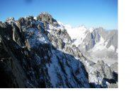 La nord dell'Aig, de Talefre..vista dalla cresta piana..sullo sfondo dell' Aig. du Midi'