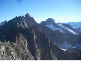 In primo piano l'Aig.Savoie con dietro l'Aig de Triolet e a dx il Dolent ..dall'Aig.de Talefre