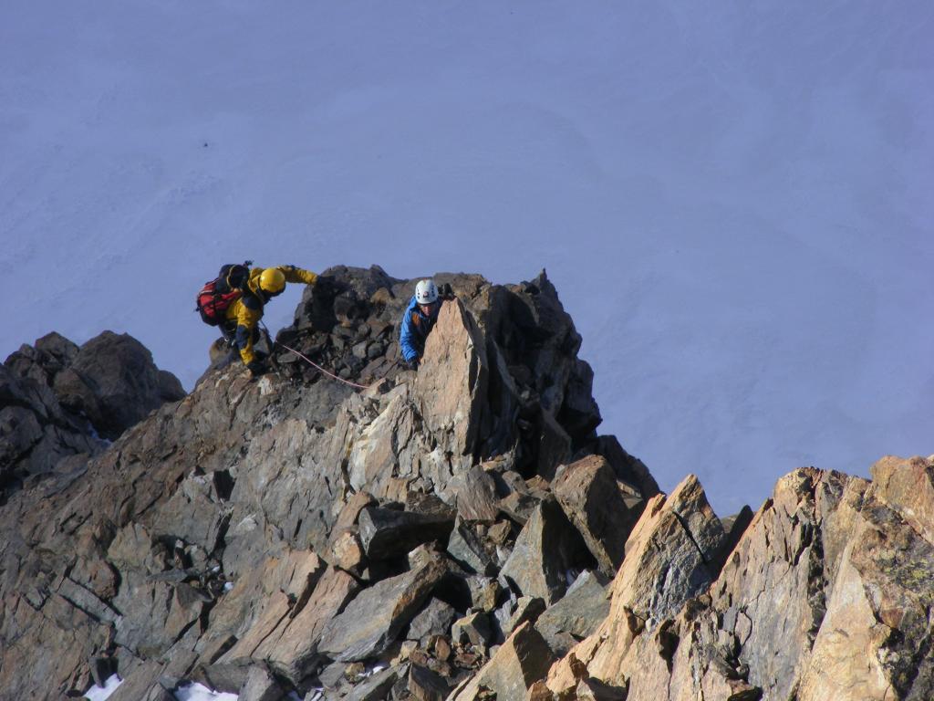 momenti di salita lungo la cresta Rey...01 (28-8-2012)