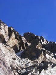 ultima parte della cresta Rey verso la cima (28-8-2012)