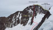 il tracciato della via seguita per la cima e la via di discesa (28-8-2012)