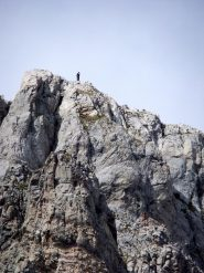 La Madonna in cima alla parete nord