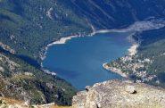 Il lago di Ceresole dalla punta