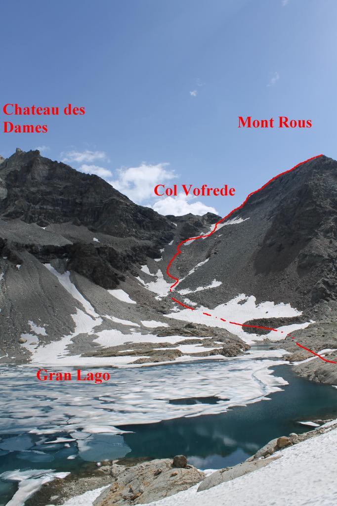 L'itinerario che conduce al Mont Rous dal Perucca