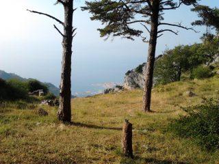 dal Col de Berceau vista su Mentone