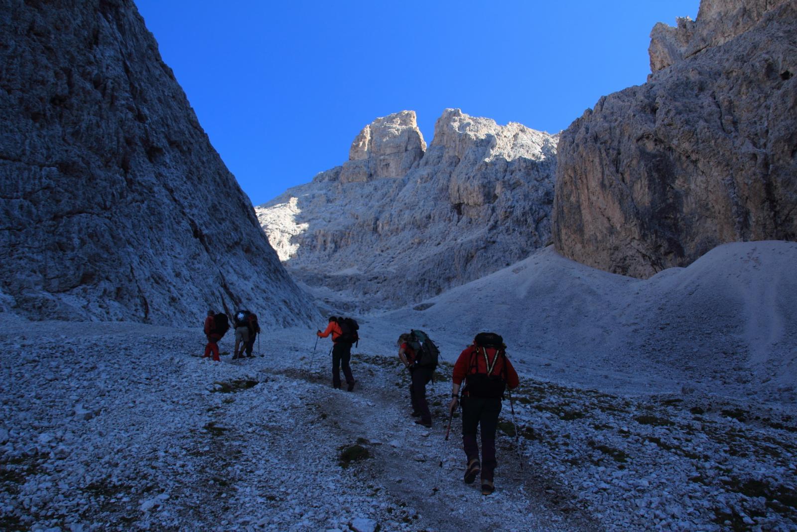 iniziamo la salita della Val Salieres (8-9-2012)