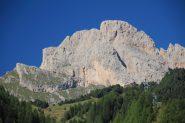 Piccola e Grande Fermeda vista dal bosco iniziale della Val di Cisles (7-9-2012)