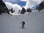 cambio stagione: il vallone del Prefouns, spettacolare, in scialpinismo