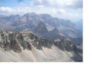 Al centro i Seru' con dietro i Re Magi..dal Roc de Valmeinier (3025m)
