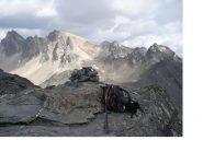 Da sx a dx, Pic du Thabor, Thabor e Roc de Valmeinier dalla Roche du Chardonnet