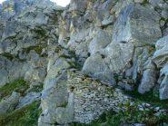 scalinata che scende al lago Boiret