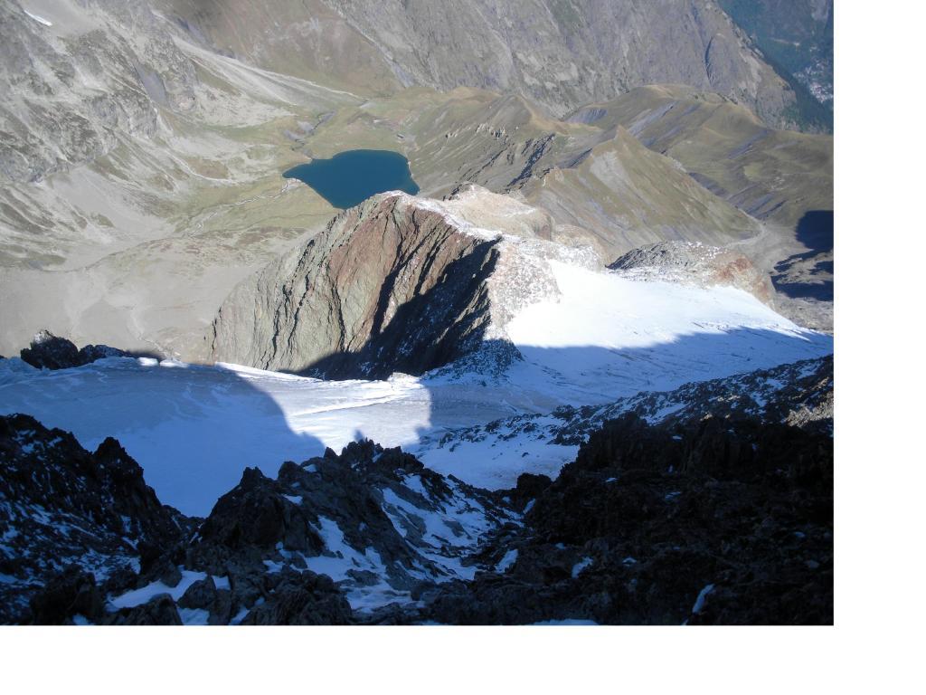 Lago e ghiacciaio della Muzelle dall'antecima..