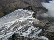 Il ghiacciaio visto dalla vetta