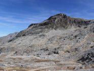 12 - versante Ovest del Pic du Diable, si passa su cenge e placche rocciose poco inclinate
