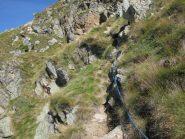 Salita al Mont Roux, completamente attrezzata