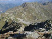 Verso il Mont Roux, dalla Punta Tre Vescovi