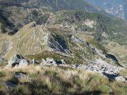 Cresta di discesa al Col Giassit