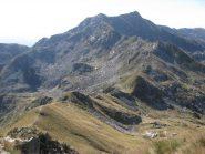 Dal Roux, vista sulla cresta verso il Mombarone