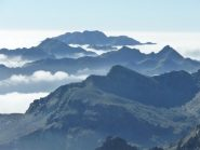 mare di nuvole verso la pianura padana
