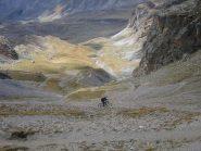 i tornanti nella parte alta del Vallone del Maurin