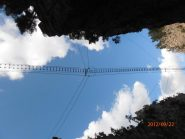 il ponte tibetano da sotto