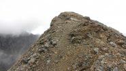 ultimi metri di cresta prima di arrivare in vetta alla Costan (22-9-2012)