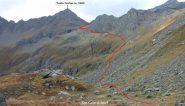 una parte dell'itinerario seguito visto dal Colle di Spiol (22-9-2012)