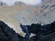Lago Chiaretto e Lago Superiore a sn.