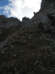 Salendo alla Forcella Ciamberline