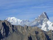 Monte Bianco (sx) e Grand Jorasses (dx)