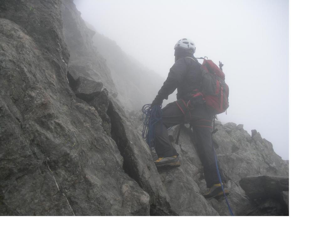 Paolo..alla ricerca del percorso giusto da seguire nella nebbia..