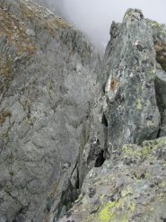 Intaglio e rocce sommitali del Monfandì Inferiore