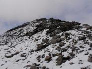 12 - cresta finale della Grande Argentiere, oggi percorsa con vento davvero forte