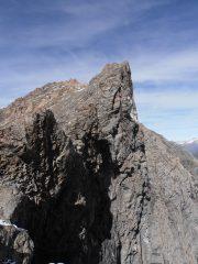 07 - dal colle verso le Rocce del Rouit, parete iniziale lungo la cresta