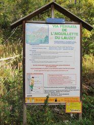 Pannello descrittivo (itineraire facile mais tres long)