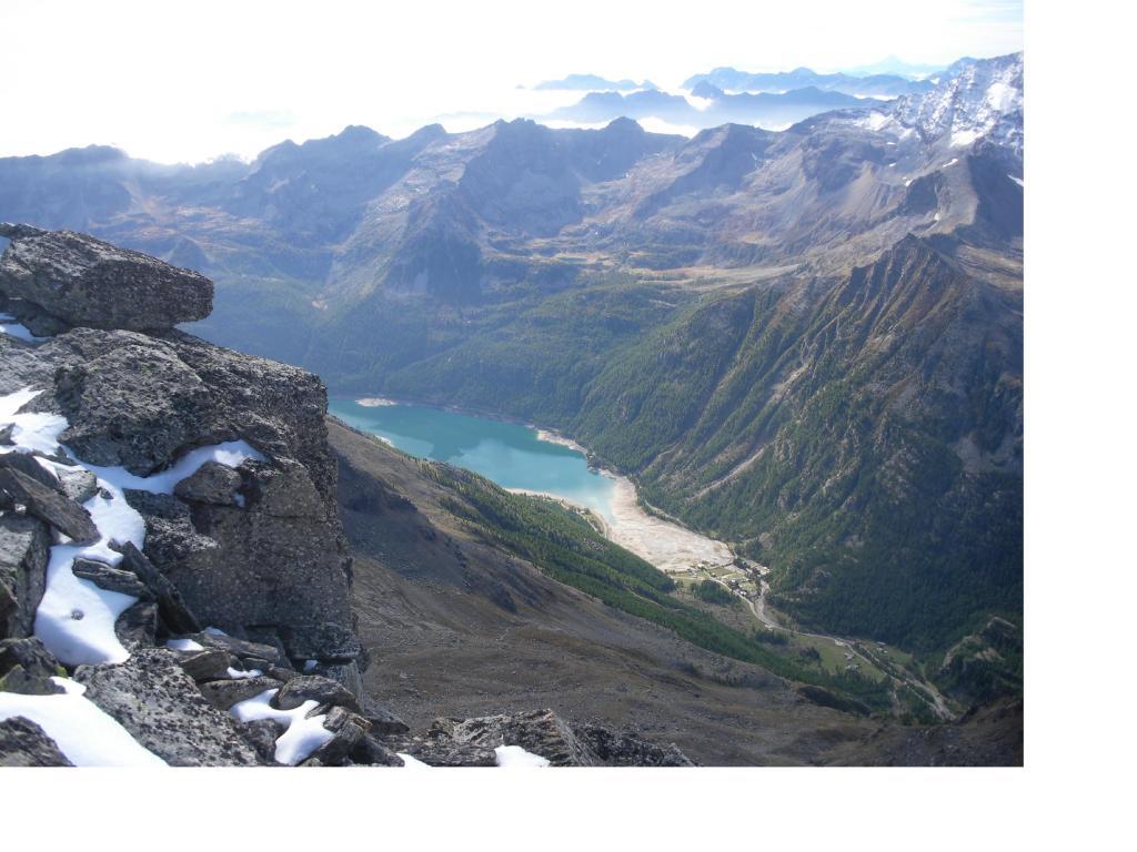 Il lago di Ceresole dalla Mare Percia..