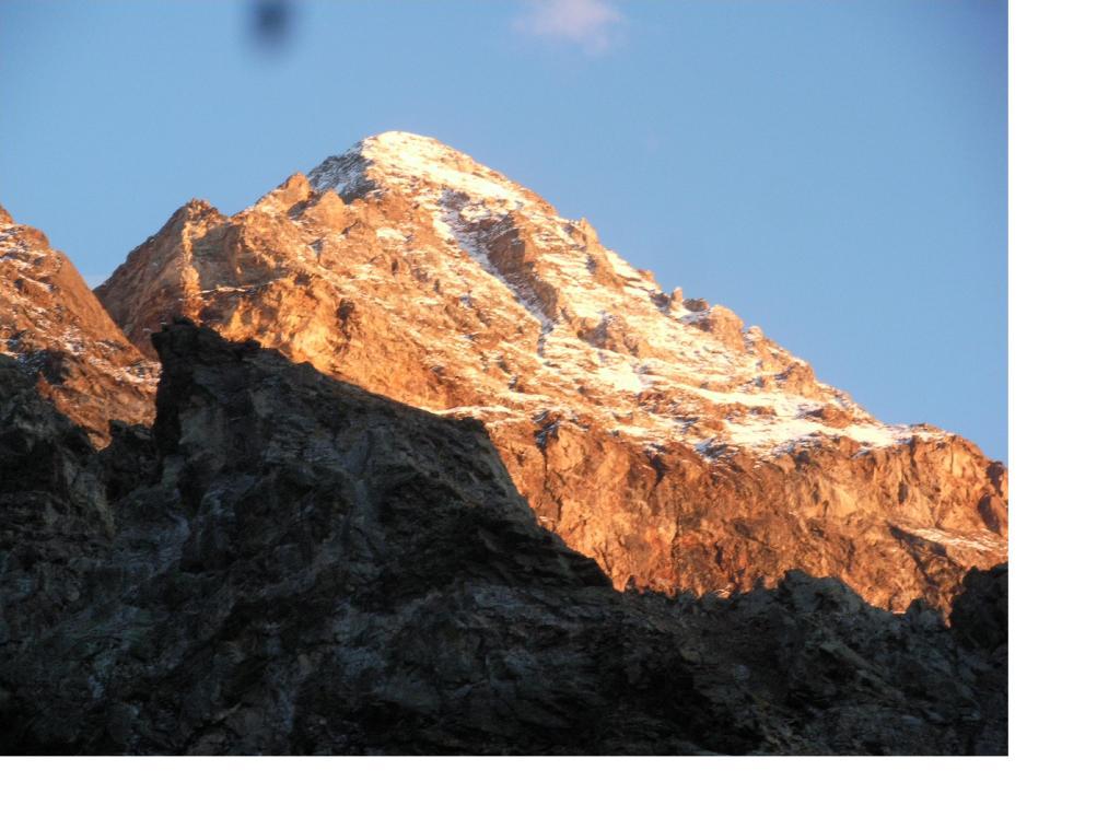 La Luseney al tramonto dal bivacco..