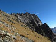 La cima vista dopo la deviazione a quota 2800mt