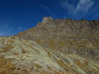 La cima vista dagli alpeggi Pousset Sup.