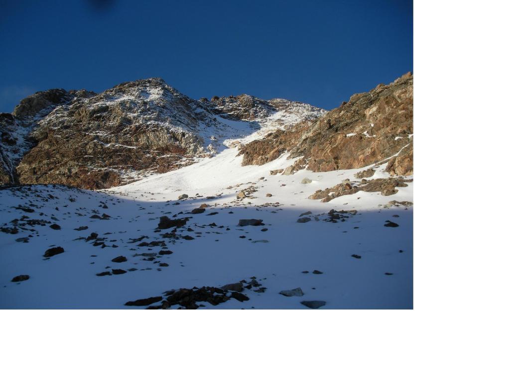 La nord della Luseney dal ghiacciaio..e ormai solo piu' roccia.