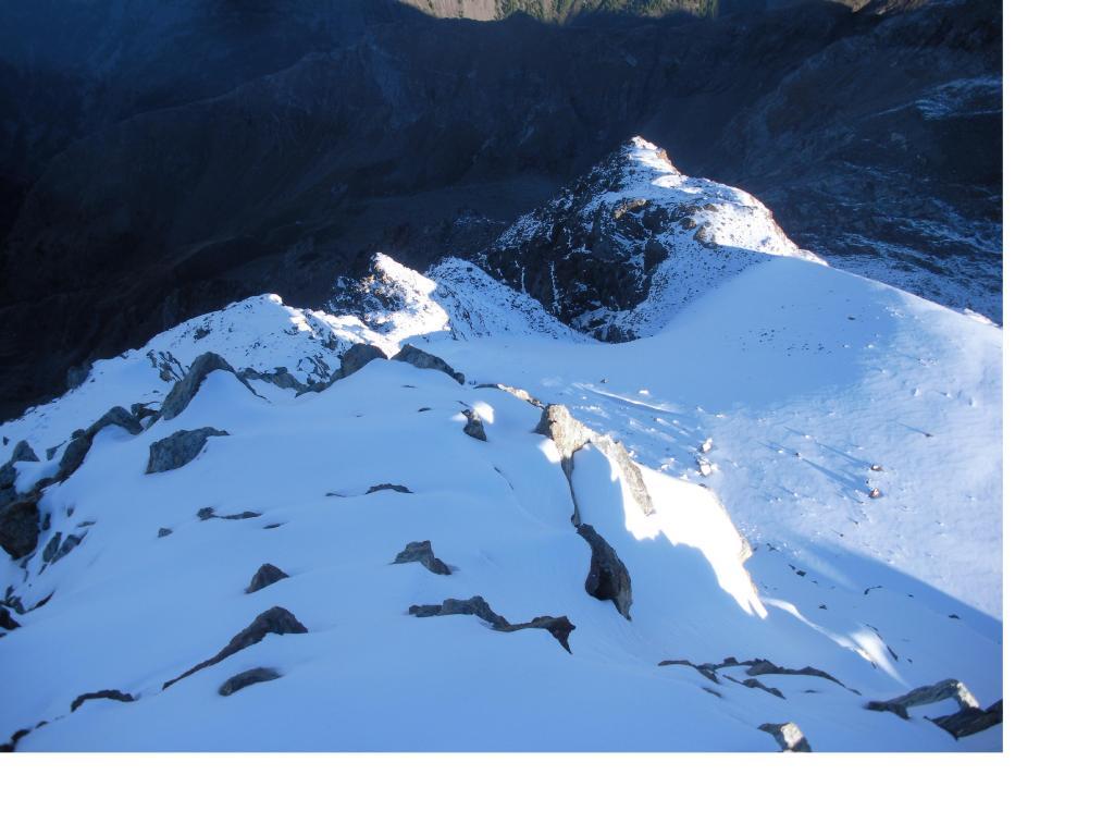 Sulla cresta nord della Luseney ..come d'inverno