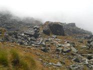 l'alpe Balma utilizzata come campo base