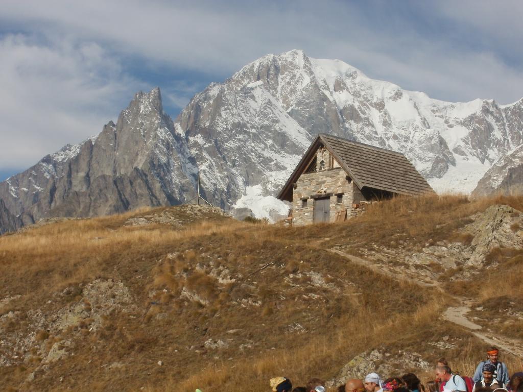 ...al cospetto del Monte Bianco!