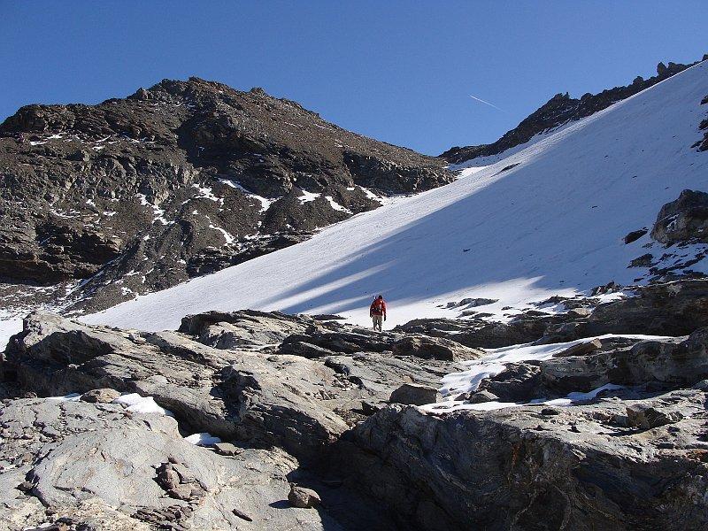 il ghiacciaio e la punta ferrand