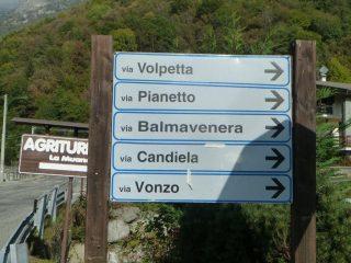 Partenza prima del ponte - Via Volpetta
