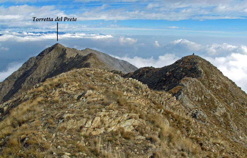 La cresta verso la Torretta del Prete