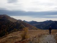 sentiero su cresta della Testa Grossa del Caval