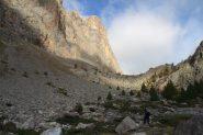 le prime luci del sole sul Sommet Rouge (7-10-2012)